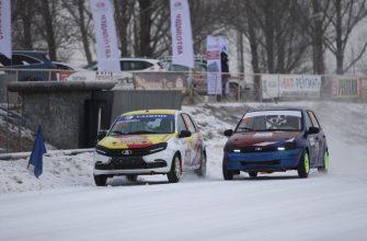 Первый этап ледовых гонок в Тольятти